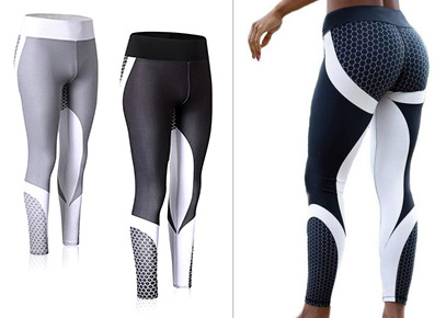 Training tights with elastic waistband